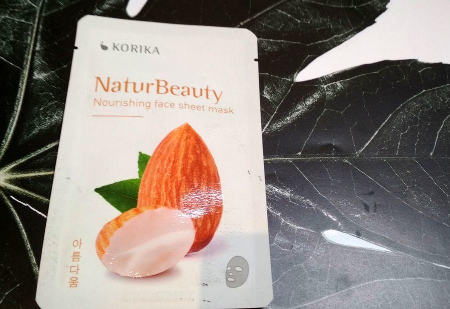 KORIKA NaturBeauty maska odżywcza w płacie