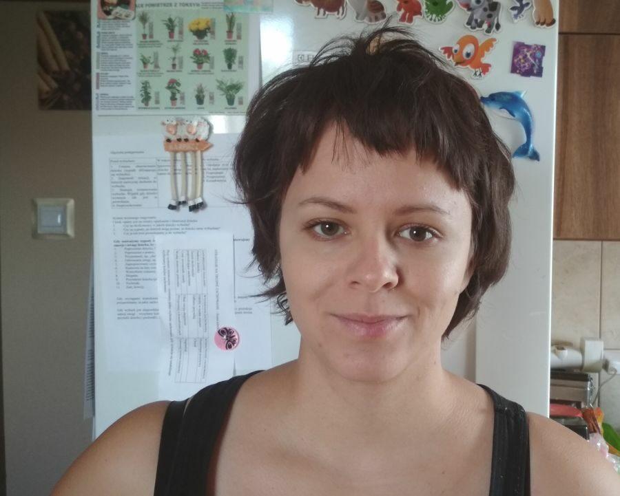 Pół roku od ścięcia włosów na jeża